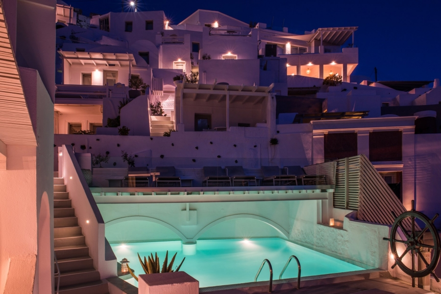 On The Rocks Hotel Santorini Greece Going Luxury