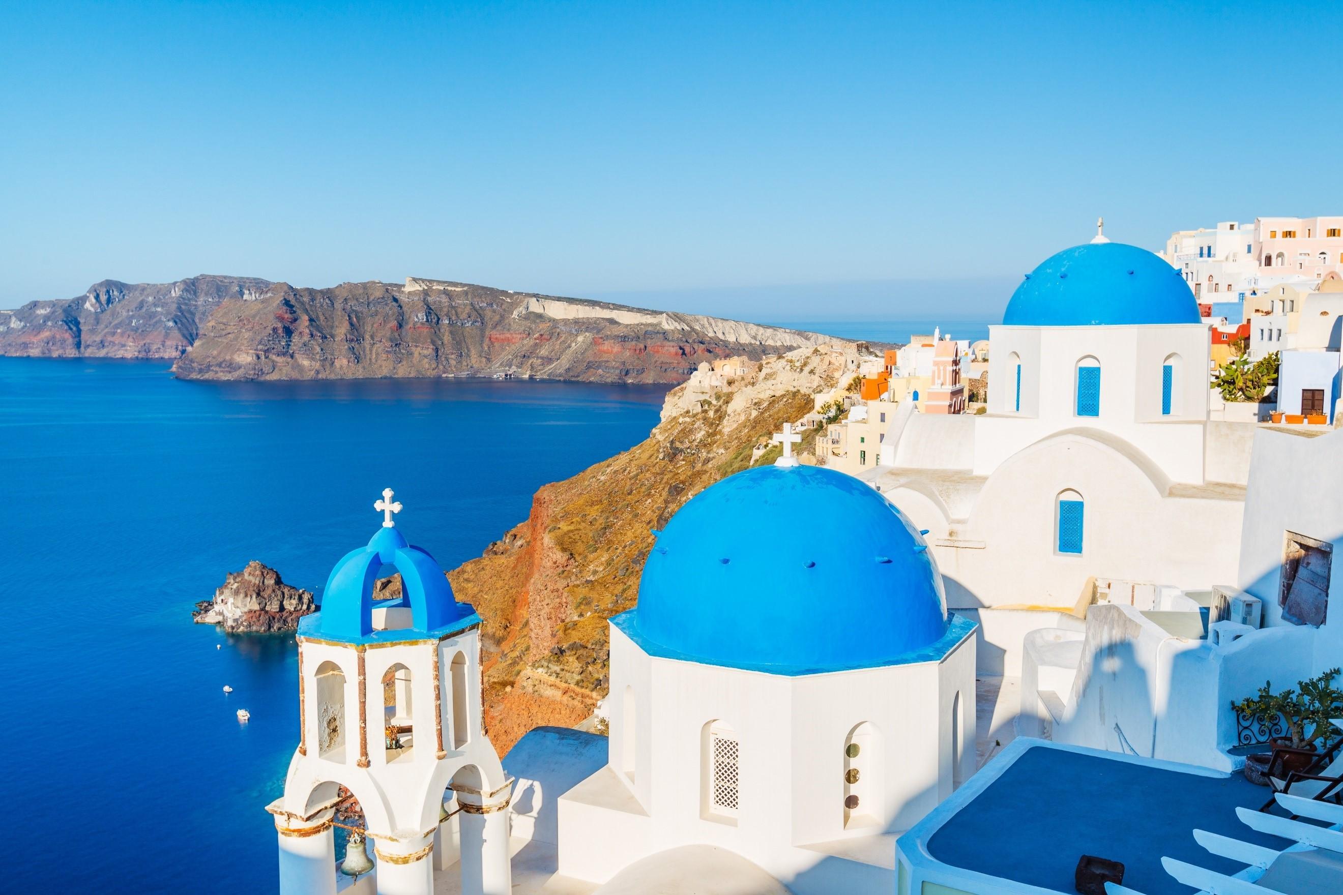 Santorini Greece clifftop